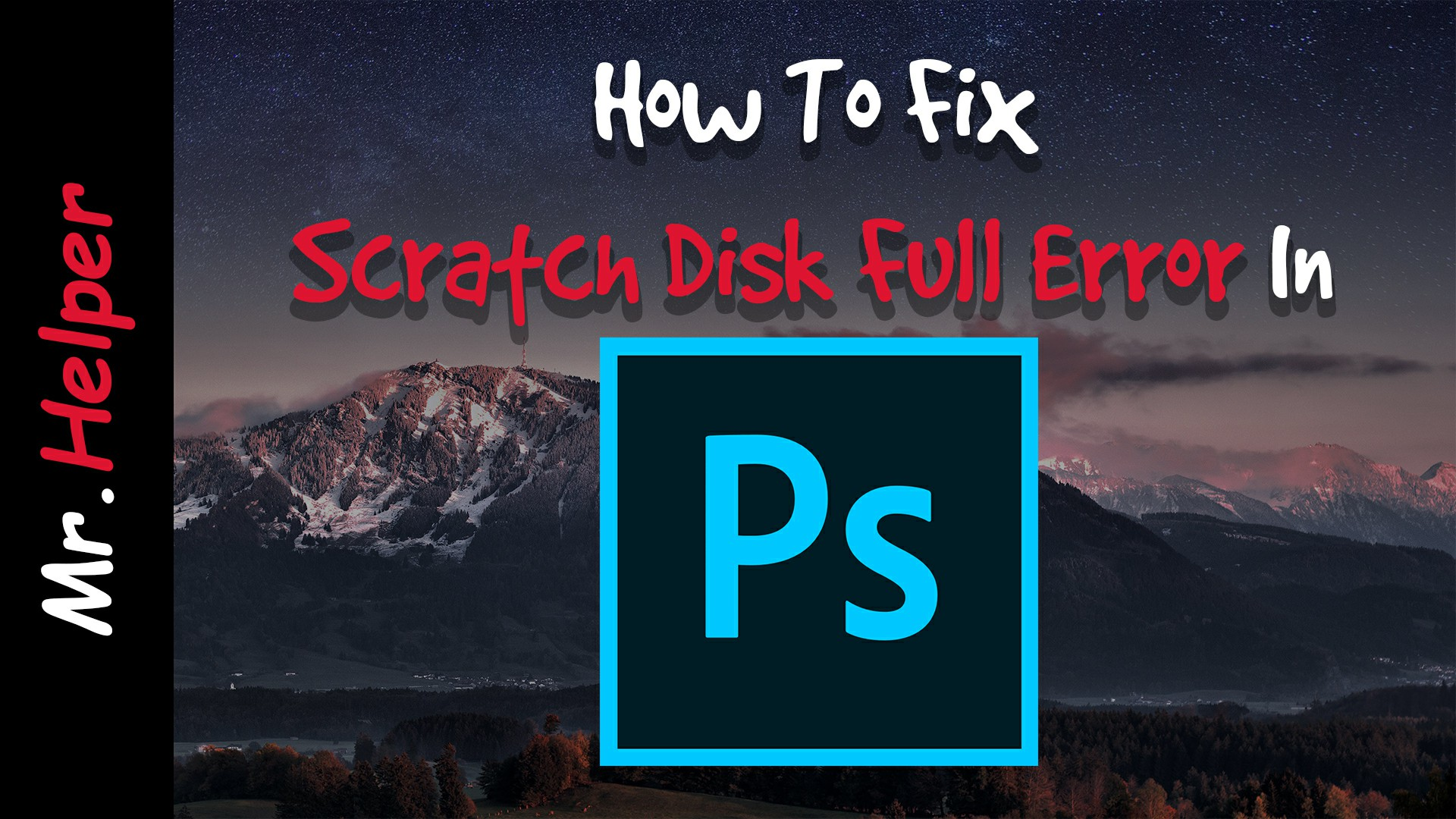scratch disks are full photoshop cc 2019