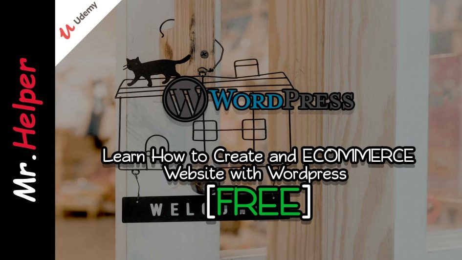 Udemy - Learn How to Create and ECOMMERCE Website with Wordpress Featured Image