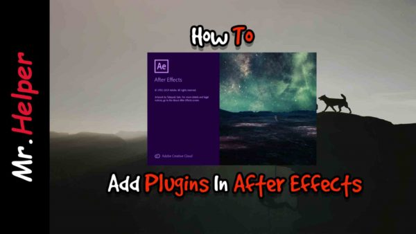 How To Add Plugins To After Effects Featured Image