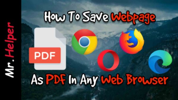 How To Save Webpage As PDF In Any Web Browser Featured Image