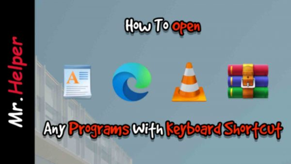 How To Open Programs With Keyboard Shortcut Featured Image